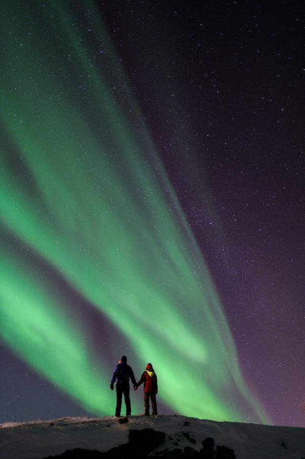 semaine voile, aurores boréales et tentative d'observation des orques et baleines