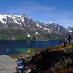 Randonnée à Ersfjorden Norvège