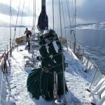 Location de voilier avec skipper et ski de randonnée dans les Alpes de Lyngen