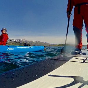 Cours stand up paddle à Sommaroy, Norvège