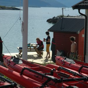 sea kayaking trips in Norway at Kvaloya with 69 NORD