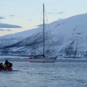 Holidays snowshoeing trip, rando raquettes at Lyngen Alps Norway