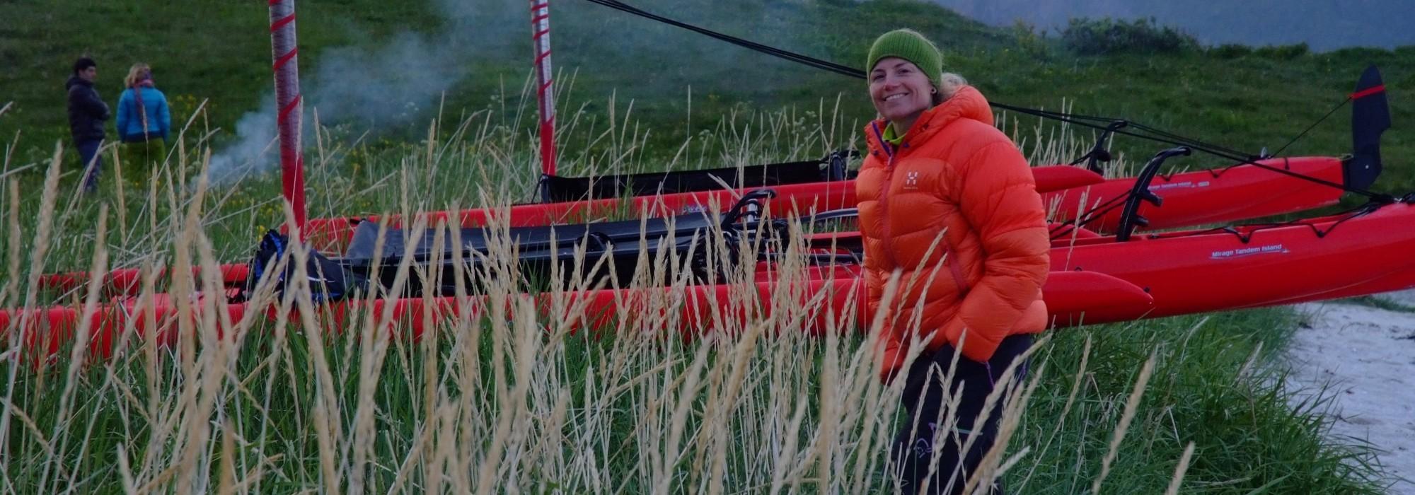 Faire du kayak dans les fjords de Norvège