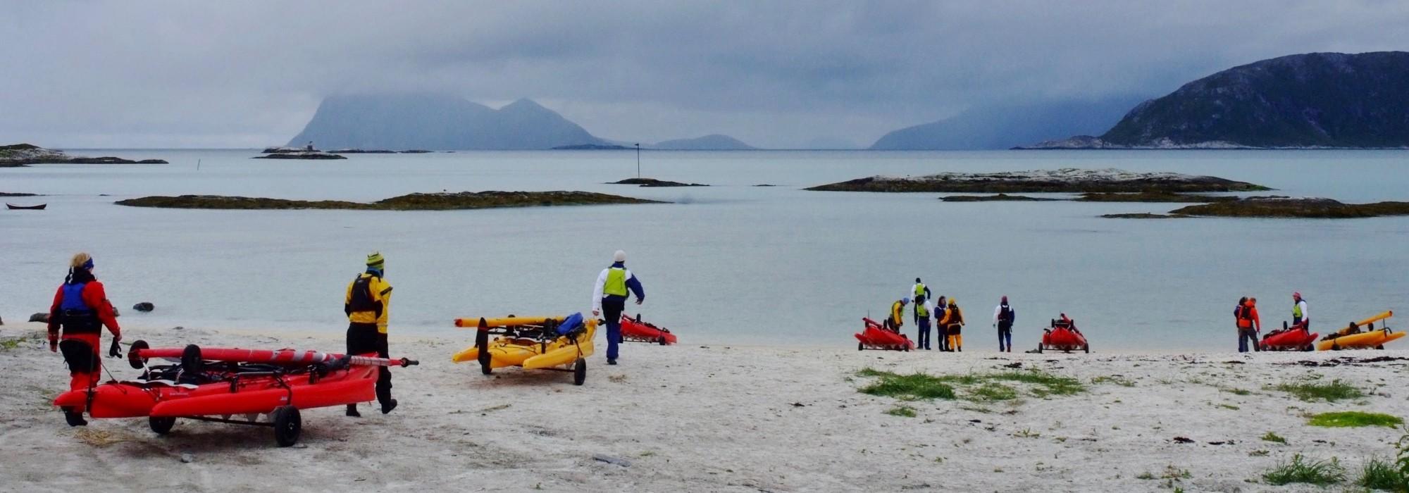 kayak trimaran à louer à Sommarøy