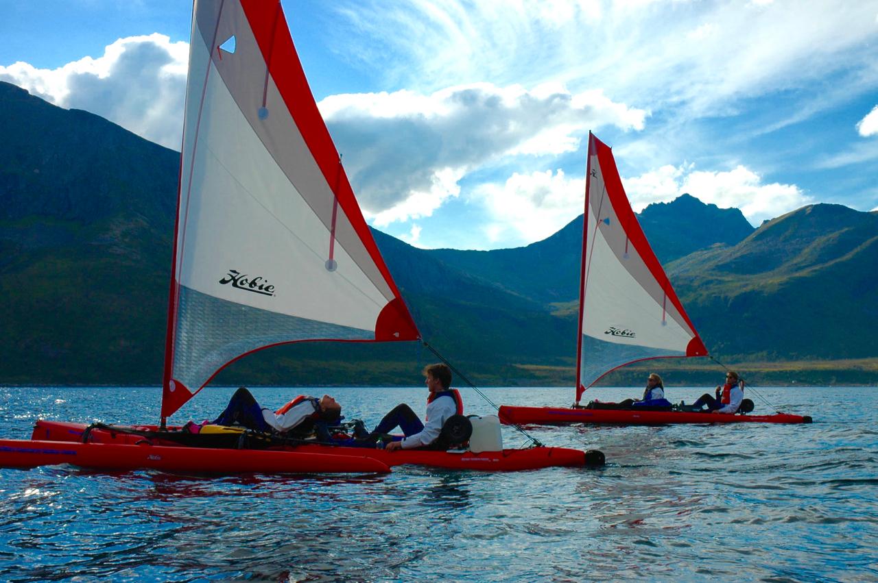 Faire de kayak double Hobie vers Tromso