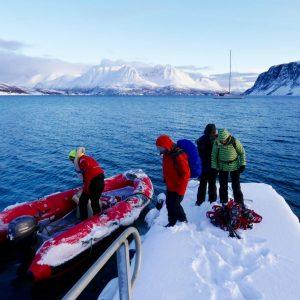 Expédition voilier et raquettes dans le Nord Norvège