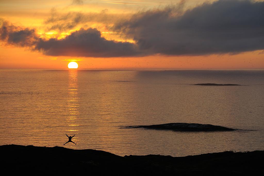 Soleil de Minuit vers Tromso Norvège